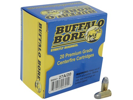 Buffalo Bore Ammunition 380 ACP +P 100 Grain Flat Nose Box of 20