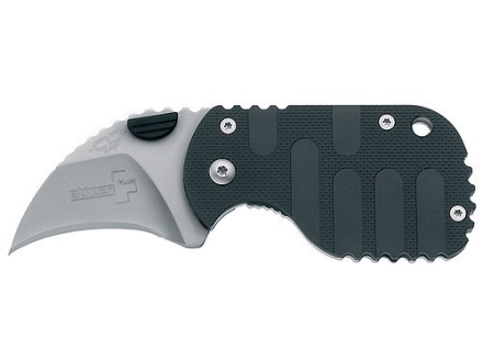"Boker Plus Subclaw Folding Knife 1-7/8"" Hawkbill Point AUS-8 Stainless Steel Blade Nylon Handle Black"