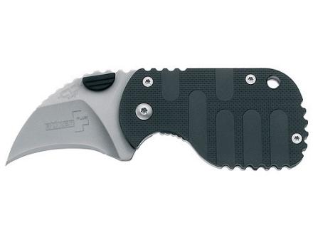 "Boker Plus Subclaw Folding Knife 1-7/8"" Hawkbill Point AUS-8 Stainless Steel Blade Nylon Handle Black"