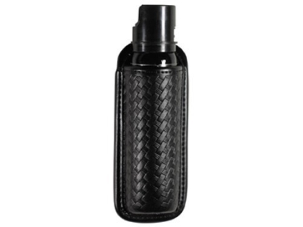 "Bianchi 7908 AccuMold Elite Mace or Pepper Spray Pouch Open Top MKIV Canisters 7-1/4"" Trilaminate Basketweave Black"