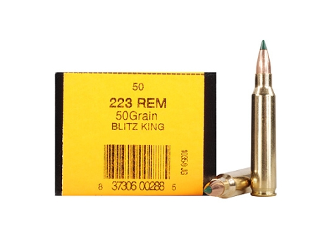 HSM Ammunition 223 Remington 50 Grain Sierra BlitzKing Polymer Tip Boat Tail