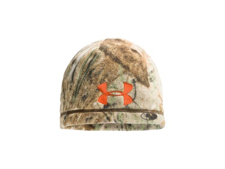 Under Armour Camo Outdoor Fleece Beanie Polyester Mossy Oak Duck Blind Camo