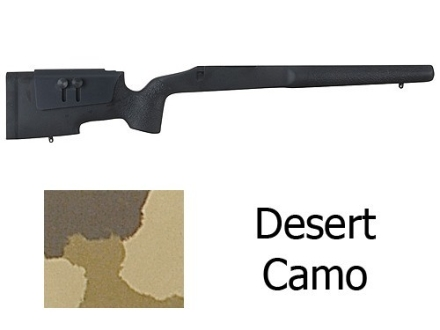 McMillan A-5 Rifle Stock with Saddle Cheekpiece Remington 700 BDL Short Action Varmint Barrel Channel Fiberglass Molded-In Desert Camo Semi-Inletted