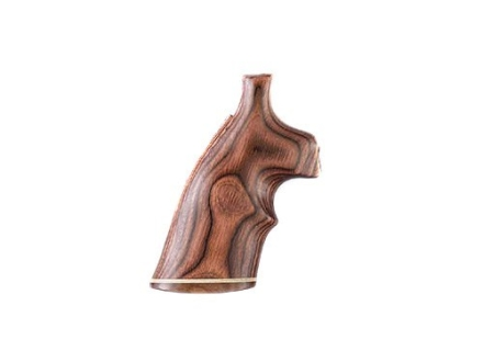 Hogue Fancy Hardwood Grips with Accent Stripe and Top Finger Groove S&W N-Frame Round Butt Rosewood Laminate