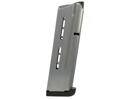 Wilson Combat Magazine with Base Pad 1911 Government, Commander 38 Super 9-Round Stainless Steel