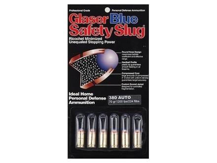 Glaser Blue Safety Slug Ammunition 380 ACP 70 Grain Safety Slug
