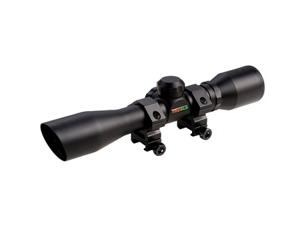 TRUGLO Compact Shotgun Scope 4x 32mm Diamond Reticle with Rings Matte