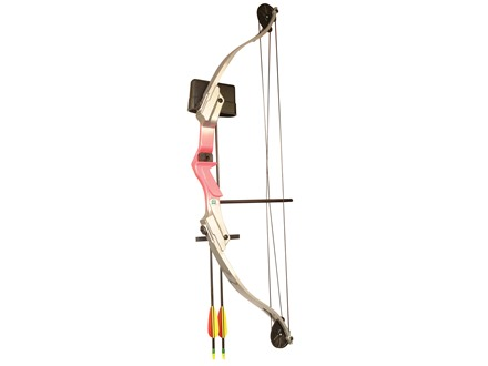 "Arrow Precision Girl Power Youth Bow Package 25 lb 28"" Draw Length Pink"