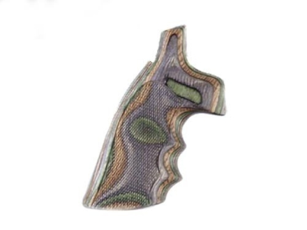 Hogue Fancy Hardwood Grips with Finger Grooves Colt Trooper Mark III Checkered Lamo Camo