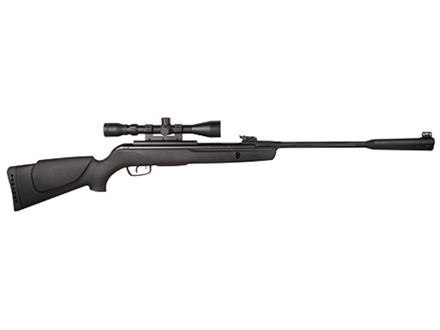 Gamo Whisper Break Barrel Air Rifle 177 Caliber Black Synthetic Stock Blue Barrel with Gamo Airgun Scope 3-9x 40mm Matte