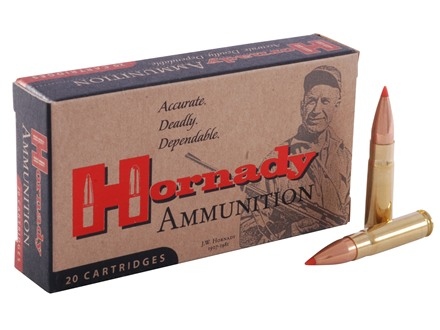 Hornady Custom Ammunition 300 Whisper 110 Grain V-Max Flat Base Box of 20