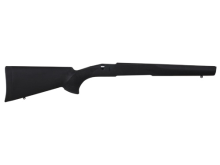 Hogue Rubber OverMolded Rifle Stock Savage 110, 112, 114, 116 Long Action Detachable Magazine Standard Contour Full Bed Synthetic Black