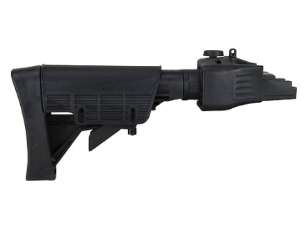 Advanced Technology Strikeforce 6-Position Collapsible Side Folding Stock with Cheekrest & Scorpion Recoil Pad AK-47, AK-74 Stamped Receivers Polymer Black