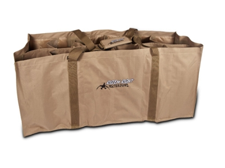 Rig'Em Right 12 Slot Floater Duck Decoy Bag Nylon Tan and Black