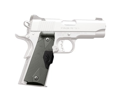 Crimson Trace Lasergrips 1911 Government, Commander Front Activation Polymer Tactical Gray with Kimber Logo
