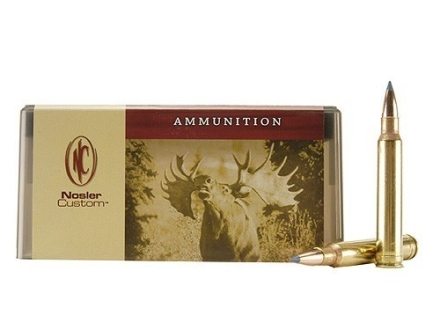 Nosler Custom Ammunition 8mm Remington Magnum 180 Grain Ballistic Tip Hunting Box of 20