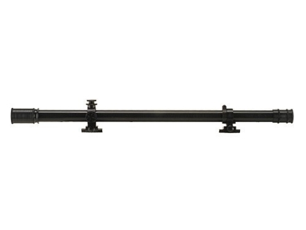 "Leatherwood Hi-Lux William Malcolm Short Rifle Scope 3/4"" Tube 3x 16mm 17"" Long Fine Crosshair Reticle with External Ring-Mounts 3/8"" Dovetail Matte Steel"