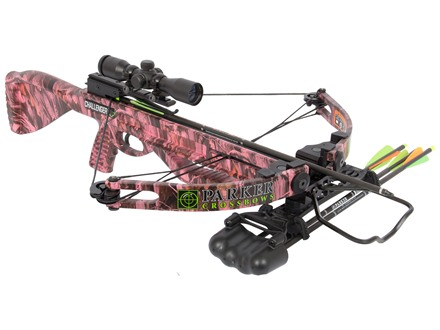 Parker Challenger Crossbow Package with 3x 30 Multi Reticle Illuminated Crossbow Scope Realtree Pink Next G1 Camo
