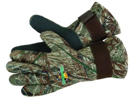 Flambeau Neoprene Wrist Gloves Mossy Oak Duck Blind Camo