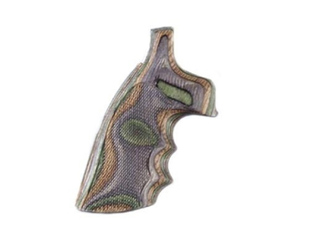 Hogue Fancy Hardwood Grips with Finger Grooves Colt Detective Special Checkered Lamo Camo