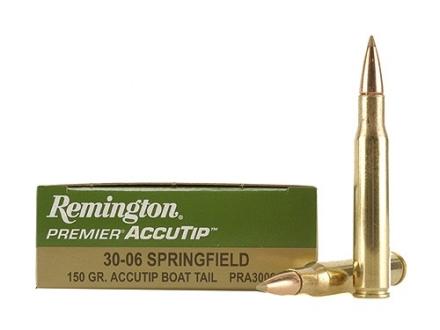 Remington Premier Ammunition 30-06 Springfield 150 Grain AccuTip Boat Tail Box of 20