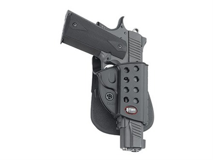Fobus Evolution Roto Paddle Holster Right Hand 1911 Government with Light Rail Polymer Black