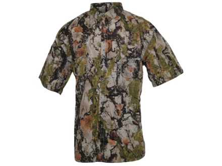 Natural Gear Mens Lightweight Shirt Short Sleeve Cotton/Poly Blend