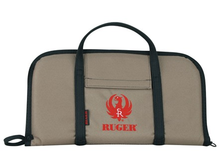 "Ruger Embroidered Pistol Attache Case 17"" x 9"" Nylon Tan"