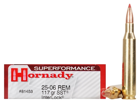 Hornady SUPERFORMANCE Ammunition 25-06 Remington 117 Grain SST InterLock Box of 20