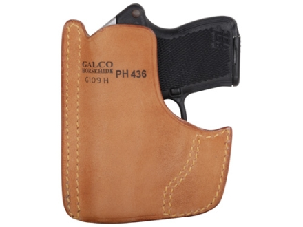 Galco Front Pocket Holster Ambidextrous Kel-Tec P32, P3AT, Ruger LCP Leather Tan