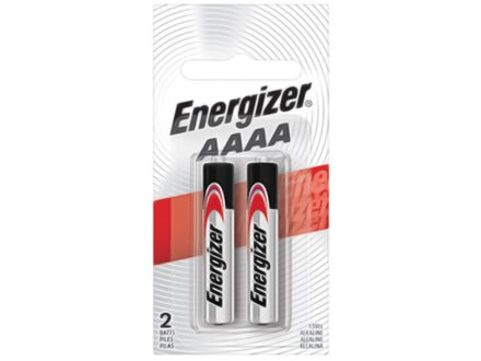 Energizer Battery AAAA Max Alkaline Pack of 2