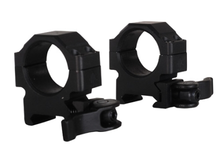"Leapers UTG 1"" Max Strength Tactical 4-Hole Quick Detachable Picatinny-Style Rings Matte Low"