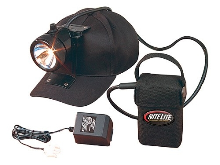 Nite Lite Nite Sport 2 Rechargeable Headlamp Package 80,000 Candle Power Incandescent Bulb with Batteries (6 Volt) Black and Red