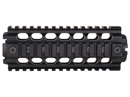 ERGO 2-Piece Z Rail Handguard Quad Rail AR-15 Carbine Length Aluminum Black