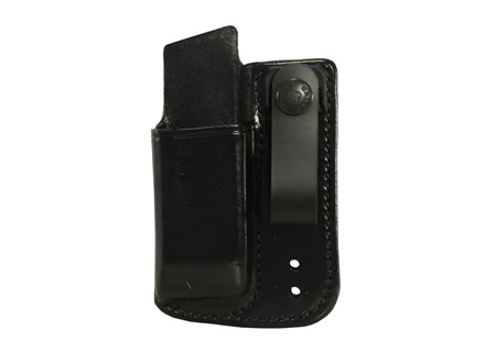 Galco Inside the Waistband Single Magazine Pouch 40 S&W, 9mm Double Stack Polymer Magazines Leather Black