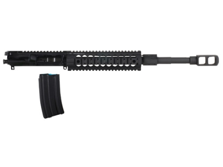"Alexander Arms AR-15 A3 AWS Upper Assembly 50 Beowulf 1 in 20"" Twist 16.5"" Barrel Matte with Midwest Free Float Quad Rail Handguard, Tank Muzzle Brake, 7-Round Magazine"