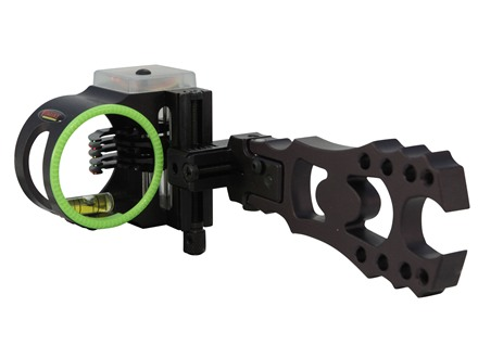 "Montana Black Gold Vengeance 5-Pin Bow Sight .019"" Pin Diameter Right Hand Aluminum Black"
