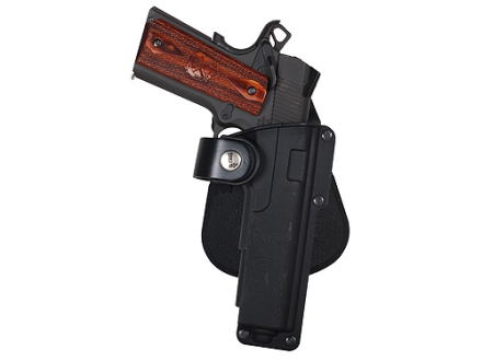 Fobus Tactical Roto-Paddle Holster Right Hand 1911 Style Holds Light or Laser Polymer Black