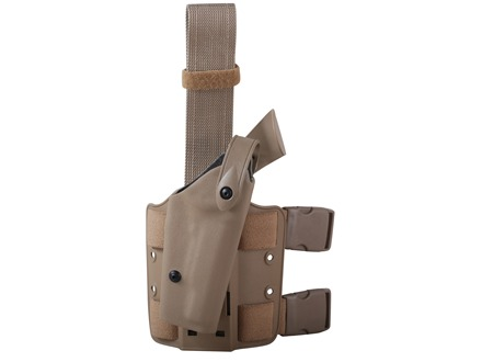 Safariland 6004 SLS Tactical Drop Leg Holster Right Hand 1911 Government with Rail Polymer Flat Dark Earth