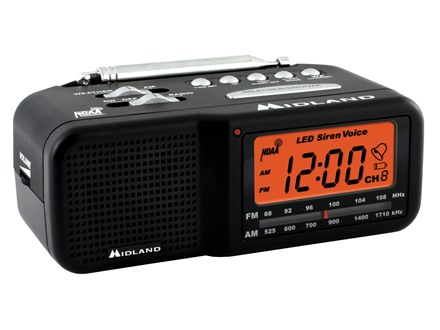 Midland WR-11 AM/FM Clock and Weather Alert Radio