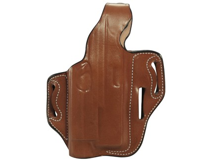 DeSantis TAC-LITE Outside the Waistband Holster Right Hand Glock 17, 22 with Mounted TLR-1 Leather Tan