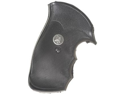 Pachmayr Gripper Decelerator Grips with Finger Grooves S&W N-Frame Square Butt Rubber Black