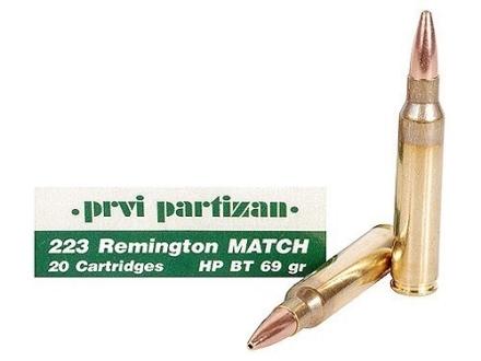 Prvi Partizan Match Ammunition 223 Remington 69 Grain Hollow Point Boat Tail