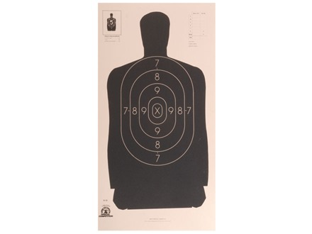 NRA Official Silhouette Target B-29 50-Foot Paper Package of 100