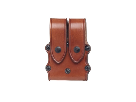 Hunter 5502 Pro-Hide Double Magazine Pouch with Flaps Large Double-Stack Magazine Leather Brown