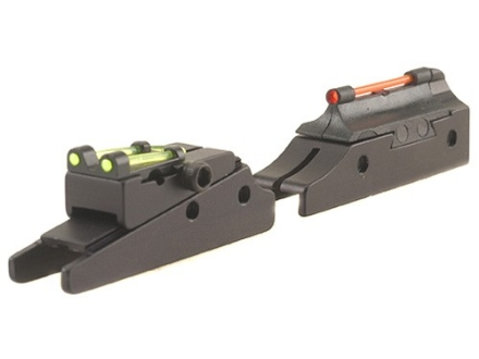 "TRUGLO Pro-Series Magnum Gobble Dot Sight Set Fits Remington Shotgun with 1/4"" Vent Rib Steel Fiber Optic Red Front, Green Rear"