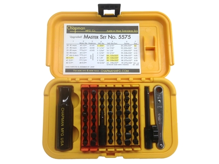 Chapman Model 5575 53 Piece Master Screwdriver Set with Slotted, Phillips, Torx, Metric and SAE Hex Bits