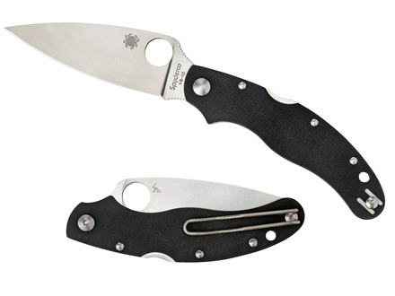 "Spyderco Caly3.5 Folding Tactical Knife 3.5"" VG-10 Stainless Steel Blade G-10 Handle Black"