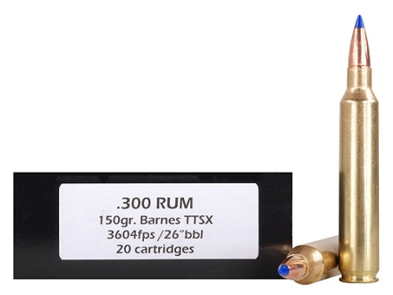 Doubletap Ammunition 300 Remington Ultra Magnum 150 Grain Barnes Tipped Triple-Shock X Bullet Lead-Free Box of 20