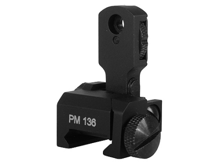 ProMag Single Plane Dual Aperture Flip-Up Rear Sight AR-15 Flat-Top Aluminum Matte